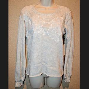 NWT $188 Sz XS Nation Ltd Gray Soft Sweatshirt